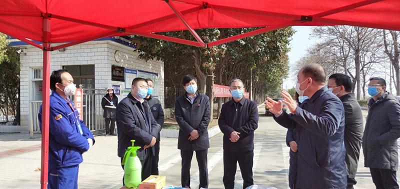 新密市长张红伟检查疫情防控及复工复产前准备工作